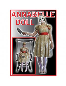 Annabelle evil doll The Conjuring womans fancy dress Halloween tv film movie villain hire costume Make Believe T2