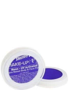 Smiffys aqua water UV neon face paint blue 39190