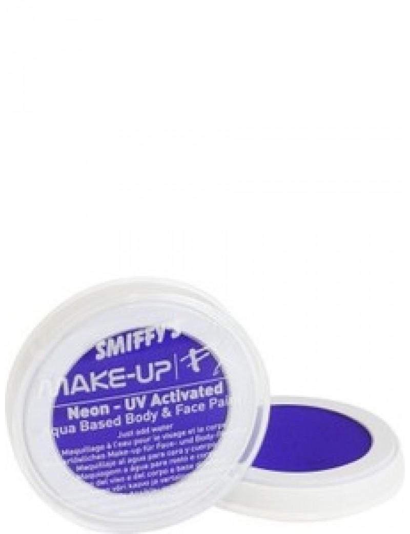 Smiffys aqua water UV neon face paint blue 39190