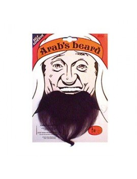 Arab false stick on fancy dress mens chin goatee beard black Bristol Novelty MB038