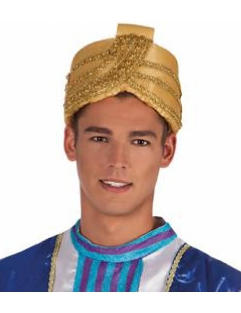 Arabian Sultan Aladdin gold  Indian Bollywood turban  costume party hat Palmer Agencies 5694A