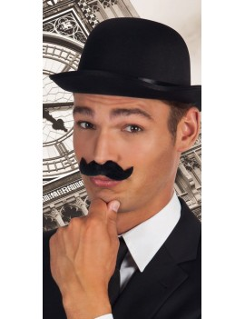Aristocrat Victorian Strongman fake stick on false mens moustache black Boland 5162 (1)