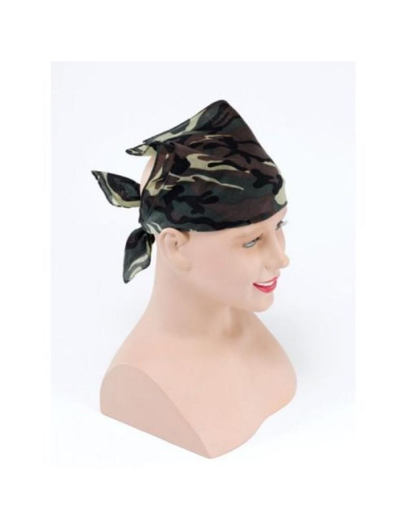 Army camouflage adults kids fancy dress bandana scarf Bristol Novelty BA236