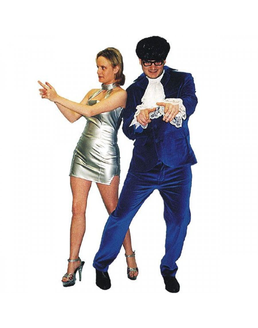 Austin Powers Blue suit mens tv film 60s 90s fancy dress party costume Make Believe EW4 EW5A  sc 1 st  A Fancy Dress Party & Austin Powers Blue suit mens tv film 60s 90s fancy dress party ...