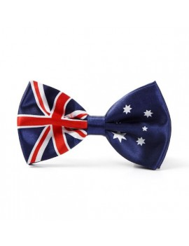 Australian flag bow tie deluxe mens masquerade ball menswear accessory Stylex Party ST9395