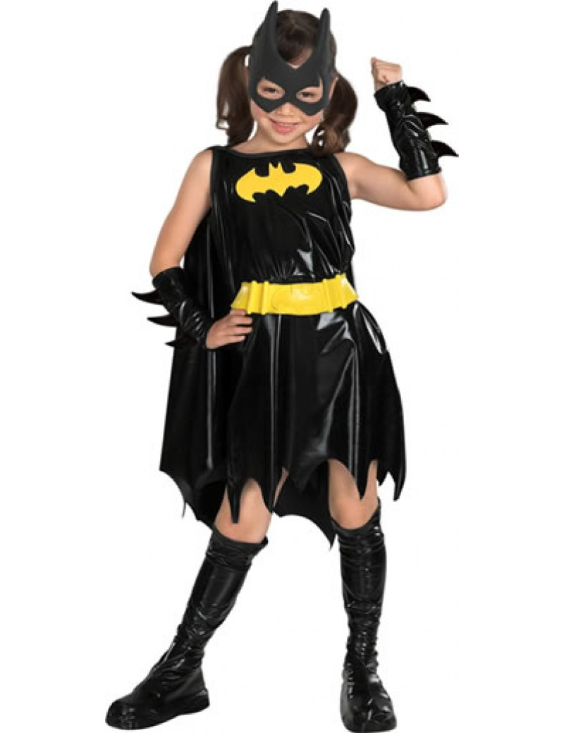 Batgirl superhero girls deluxe fancy dress party book day costume Rubies 882313