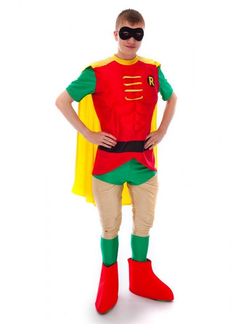 Batman Robin Rodney  mens 90s  tv Superhero padded hire rental costume Make Believe DC 9