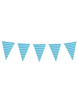 Bavarian checkered flag plastic bunting 8m Palmers 5952A