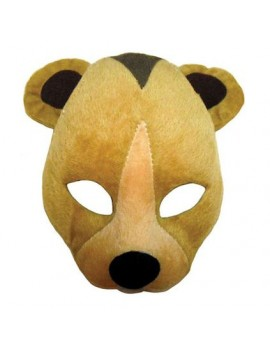 Bear teddy fancy dress costume party headband animal mask Bristol Novelty EM361