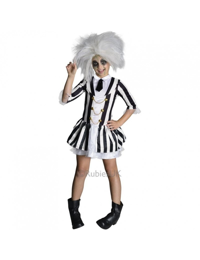 Beetlejuice Child Girls Costume Rubies 610726
