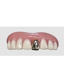 Bling Bling gold Billy Bob rapper chav professional theatrical fancy dress costume party mens false teeth BB-10091