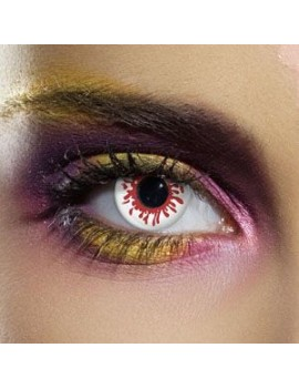 Blood Splat red white fancy dress costume party fashion theatrical daily eye accessories contact lenses Funky Vision 82822
