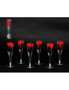Bloody Plastic champagne glasses Halloween party tableware Creative Collection Atosa AT-16251