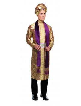 Bollywood Indian mens fancy dress Gold Purple costume party Bristol Novelty AC232
