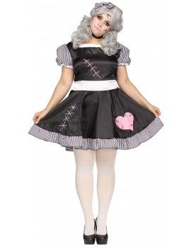 Broken china doll ladies halloween tv film fancy dress costume party Palmer Agencies 3291A 3291B