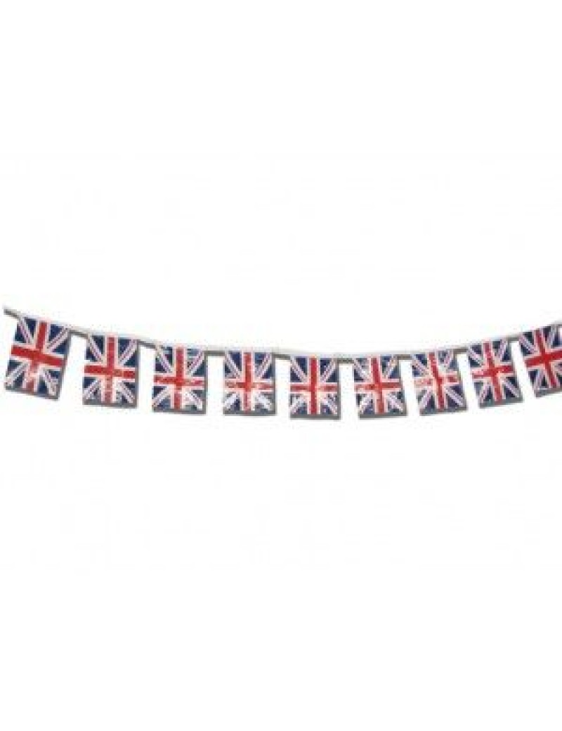 Bunting Union Jack British flag polyester Eurovision room hall decoration Creative Collection D8002