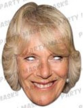 Camilla Duchess Of Cornwall fancy dress  Royal celebrity ladies girls mask Mask-arade
