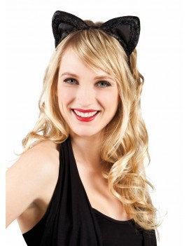 cat ears black and glitter Palmer Agencies 5080