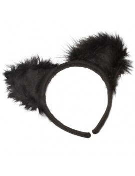 Cat ears black marabou Bristol Novelty MD196