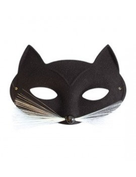 Cat eye mask black  costume party animal masquerade ball Pams Of Gainsborough 13219
