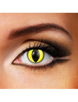 Cat Eye Yellow 1 Day eye accessories Funky Vision 82823