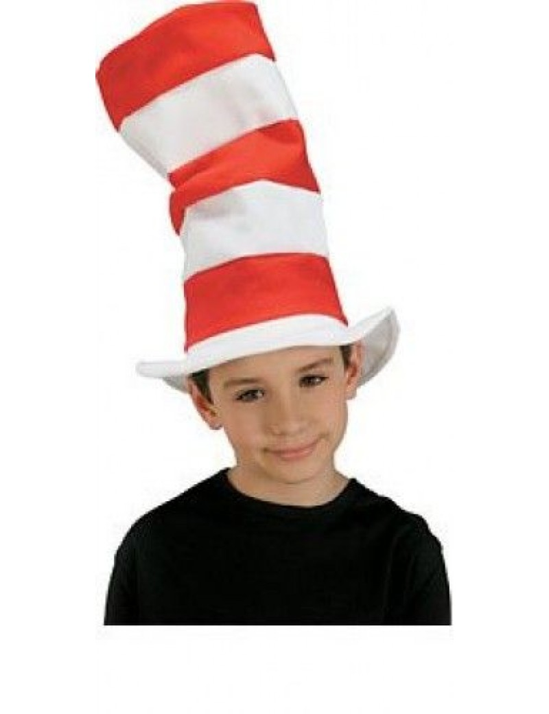 Cat in The Hat red and white striped top  hat Dr Seuss book day accessory Bristol Novelty BH598