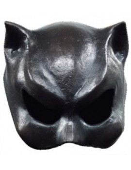 Catwoman half face latex black elasticated Superhero villain eye mask Ghoulish productions GH- 25004