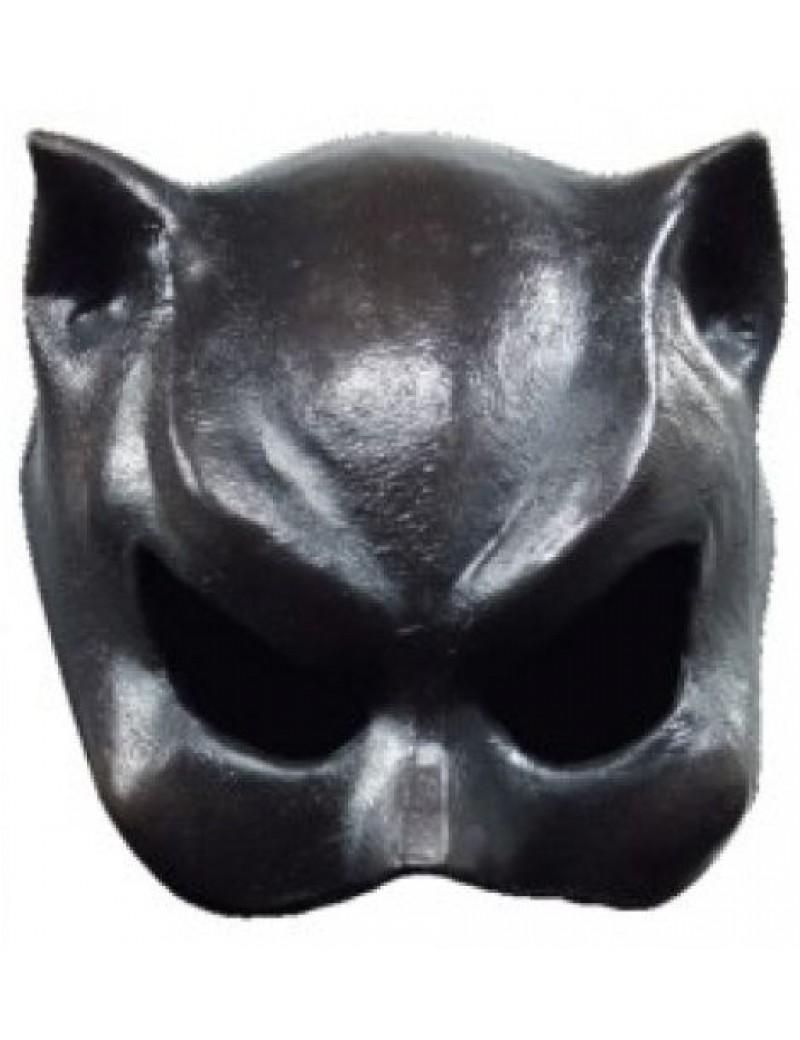 Catwoman half face latex black elasticated Superhero villain eye mask Ghoulish productions GH- 25004