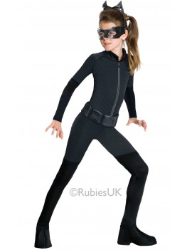 Catwoman Superhero villain girls fancy dress party tv movie cartoon costume Rubies 881289