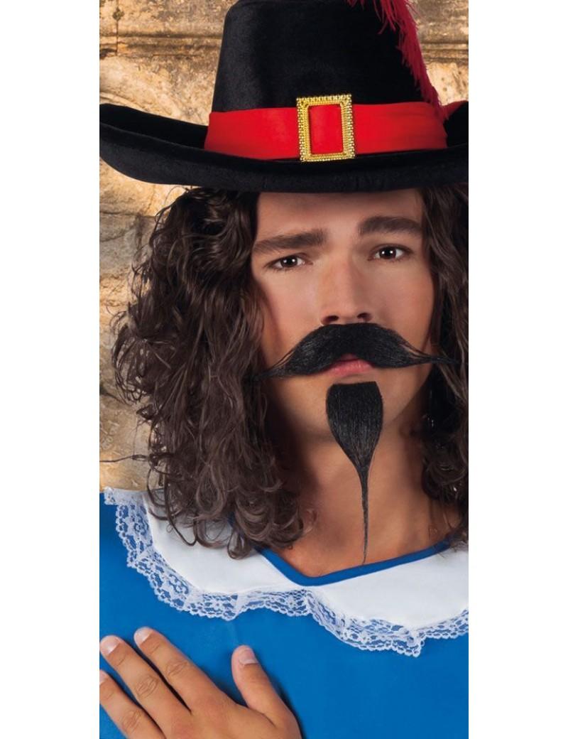 Cavalier Musketeer false stick on beard moustache Set black Boland Palmer Agencies 5165