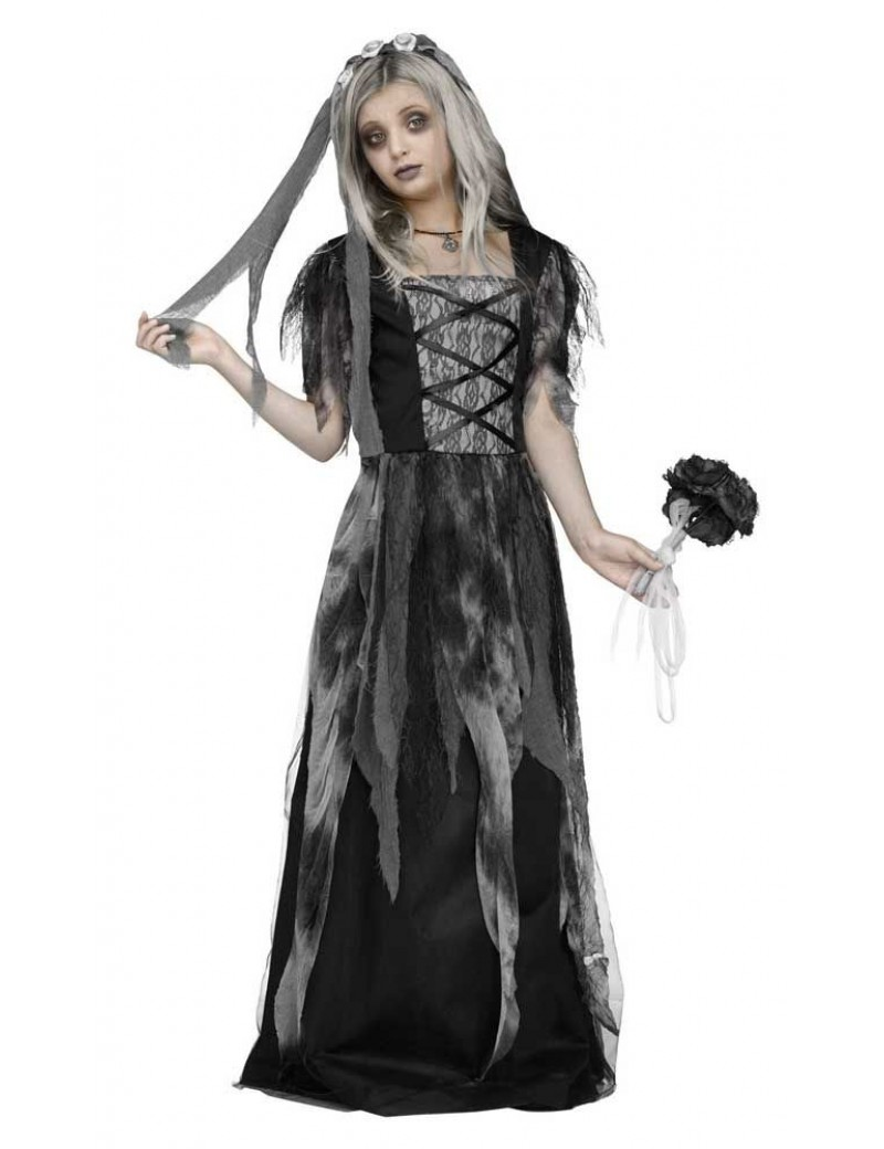 Cemetery bride girls Halloween grey fancy dress costume Palmer Agencies 3673
