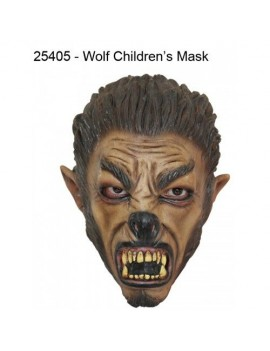 Werewolf f rubber kids fancy dress costume Halloween mask GH-25405