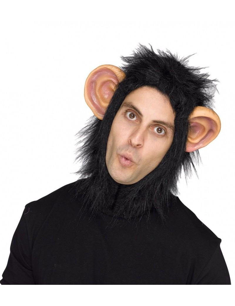 Chimp ape monkey beast hood halloween fancy dress jungle costume party mens mask Palmers 1588A