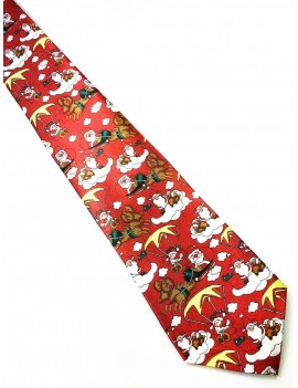 Christmas Parachuting Santa  Menswear novelty gift mens Tie (1)