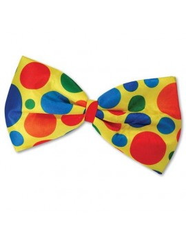 Clown Jumbo Bow Tie Spotted