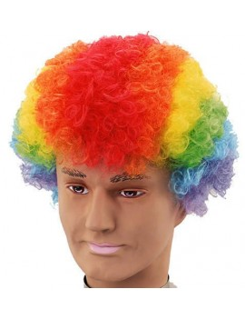 Afro wig multi coloured Bristol Novelty BW113