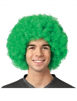 Afro wig green 70402
