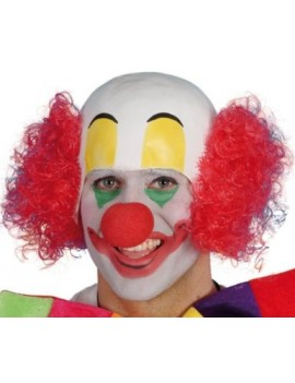 Clown rubber headpiece fancy dress costume party circus mens wig Smiffys 24701