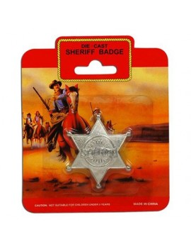 Cowboy sheriff Badge Metal Bristol Novelty BA337