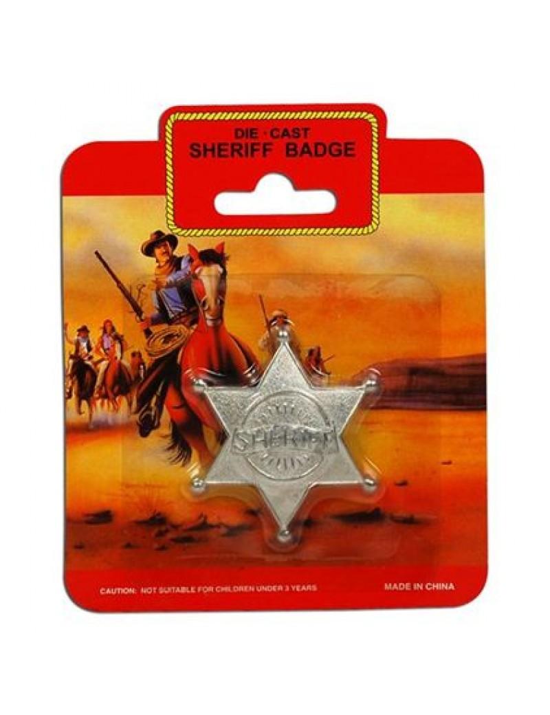 Cowboy Sheriff Badge Metal