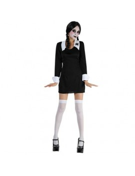 Creepy Schoolgirl Adams Family  ladies girls Halloween fancy dress costume party Bristol Novelty AC149