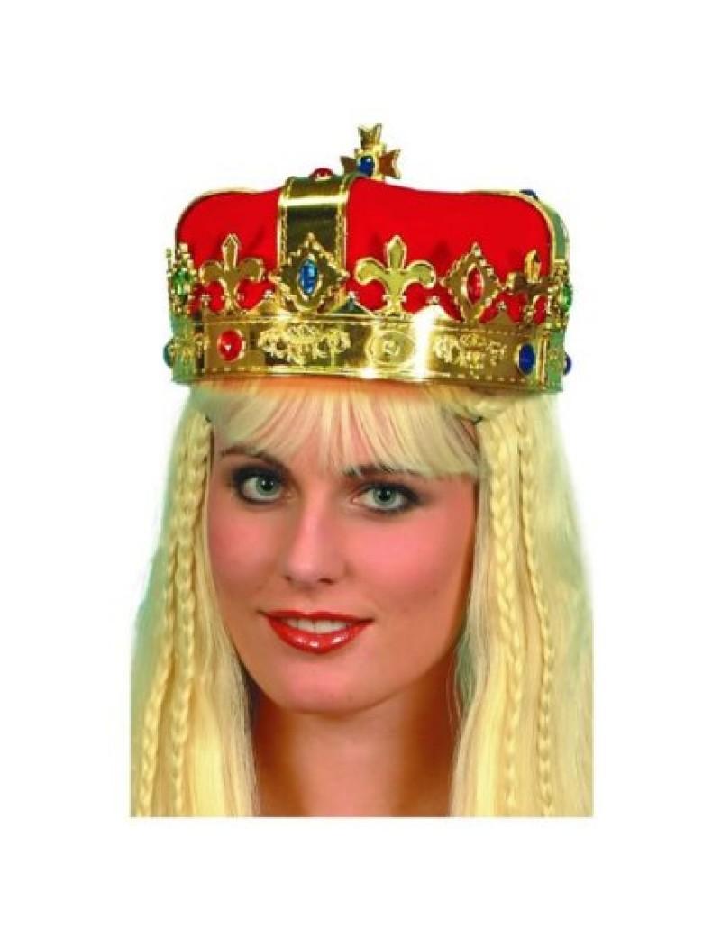 Crown gold jewelled kings queens regal prop hat headwear Smiffys 21971