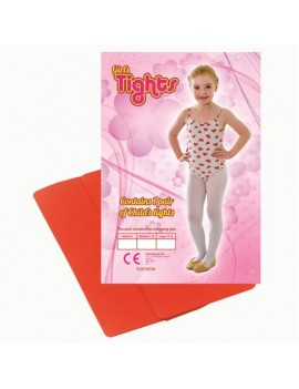 Dance ballet tights red girls kids fancy dress costume  accessory Bristol Novelty BA742