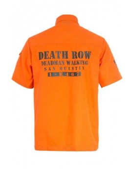 Death Row mens prisoner orange convict shirt American Halloween Party Jawbreaker Clothing (1)