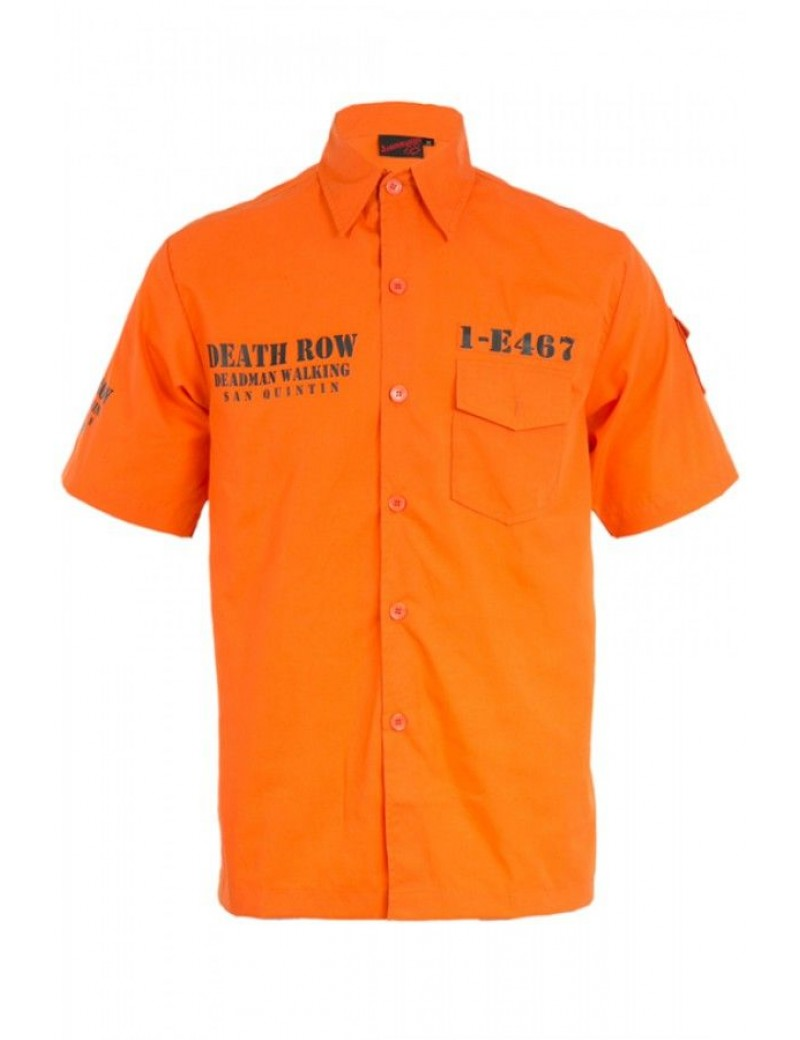Death Row Prisoner Orange Convict Shirt
