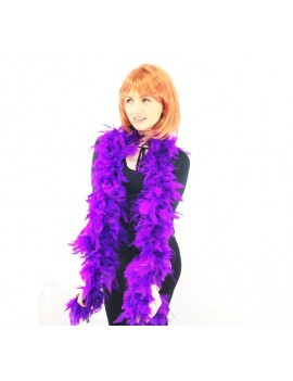 Feather boa purple Stylex Party ST4926