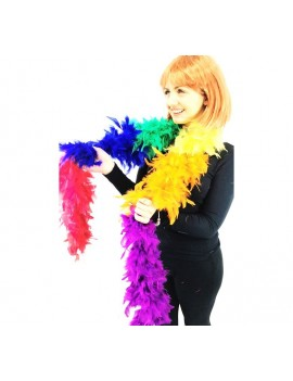 4c6743550c1 Feather Boa Rainbow Multi Coloured Stylex Party ST4896
