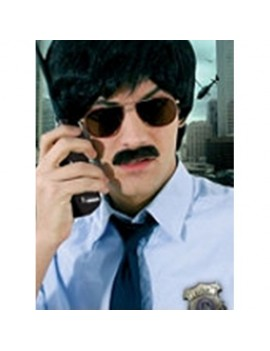 Detective 1970s 80s Magnum PI style professional theatrical real hair retro moustache Metamorph