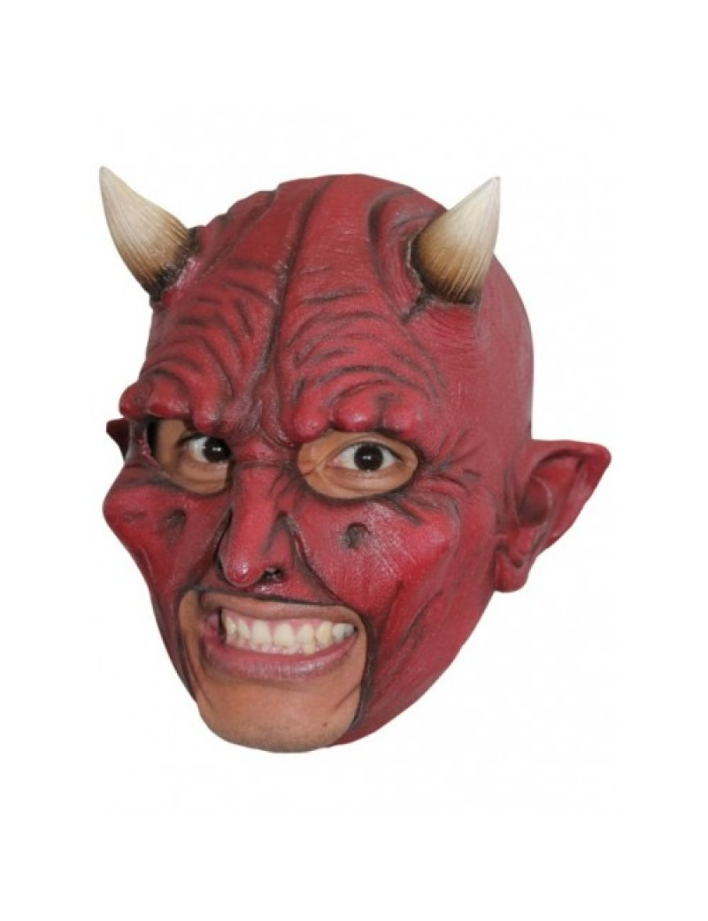 Devil full over head rubber chin strap fancy dress costume party Ghoulish Productions Halloween mask GH-27503