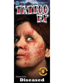 Trauma diseased temporary tattoos Tinsley Transfers TR-109